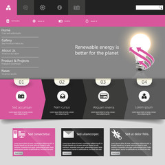 Modern Flat Website Template EPS 10