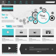 Flat Business Website Template Vector