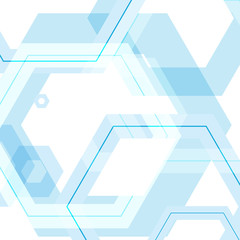Vector background of large colored hexagons eps