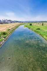 多摩川 関戸橋付近