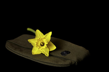 Us Marine's Uniform Hat with Daffodil
