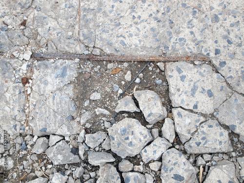 In de dag Stenen cracked floor texture