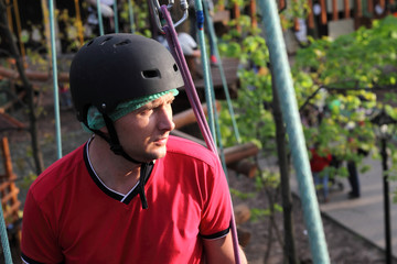 Portrait of climber man