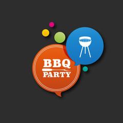 affiche, barbecue