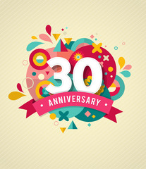 anniversary - abstract background