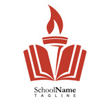 Fototapety School education logo icon vector