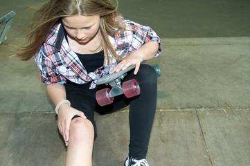 Verletzung beim Skateboardfahren