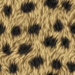 Seamless Leopard Animal Fur Background
