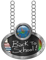 Back to School - Blackboard with Chain