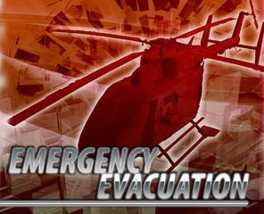Emergency evacuation Abstract concept digital illustration