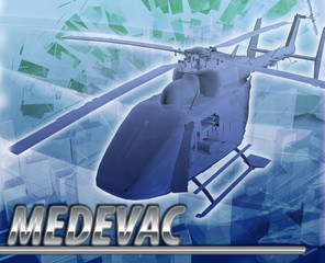 Medevac Abstract concept digital illustration