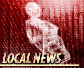 Local news Abstract concept digital illustration