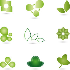Blätter, Logos Sammlung, Bio, Eco