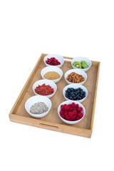 Healthy food on a tray