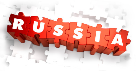 Russia - White Word on Red Puzzles.
