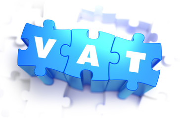 VAT - White Word on Blue Puzzles.