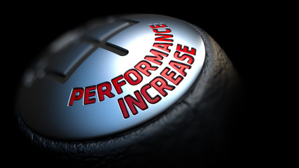 Performance Increase. Shift Knob. Concept of Influence.