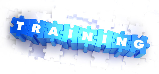 Training - White Word on Blue Puzzles.