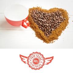 Composite image of fair trade graphic