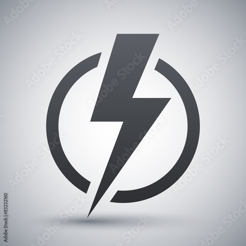 Lightning bolt icon, vector