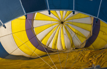 Inside in hot air balloon