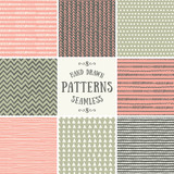 Fototapety Abstract Seamless Patterns Collection