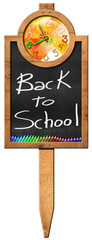 Back to School - Sign with Blackboard