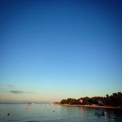 Tranquil seaside scenery at sunrise