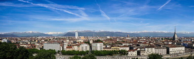 Beautiful view of Turin, Italy