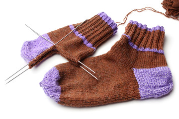 Wool knitted socks