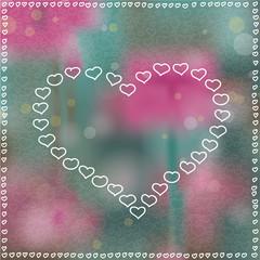 Herzen Bokeh Hintergrund
