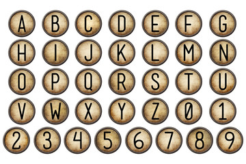 backspace typewriter key alphabet collection