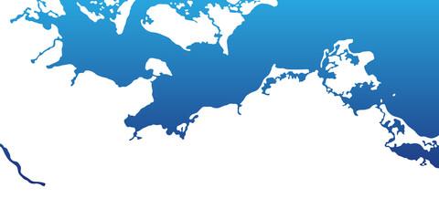 Ostseeküste - Karte in Weiß