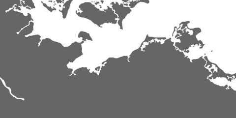 Ostseeküste - Karte in Grau