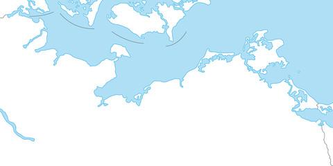 Ostseeküste als Karte