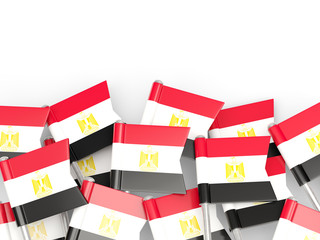 Flag pin of egypt