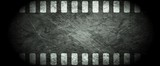 Fototapety Dark grunge filmstrip abstract background