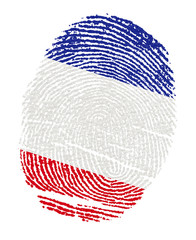 France Flags in the form of fingerprints