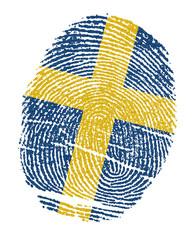 Sweden Flags in the form of fingerprints