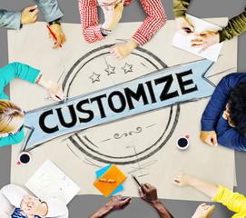 Customize Organization Change Adjustment Concept