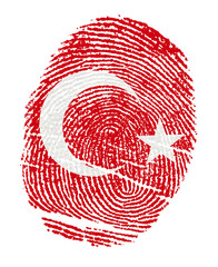 Turkey Flags in the form of fingerprints