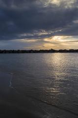 Mare al tramonto, Fiumicino