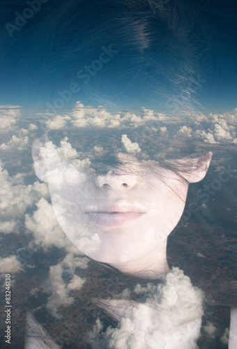 Double exposure portrait - 83246130
