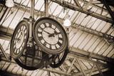 iconic old clock Waterloo Station, London