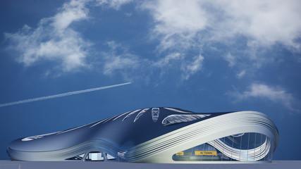 Futuristisches Flughafengebäude
