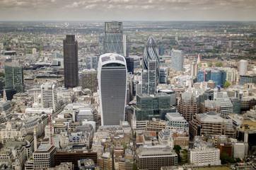 The city financial area of London,England