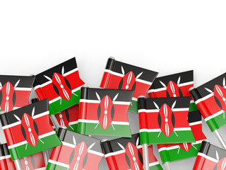 Flag pin of kenya