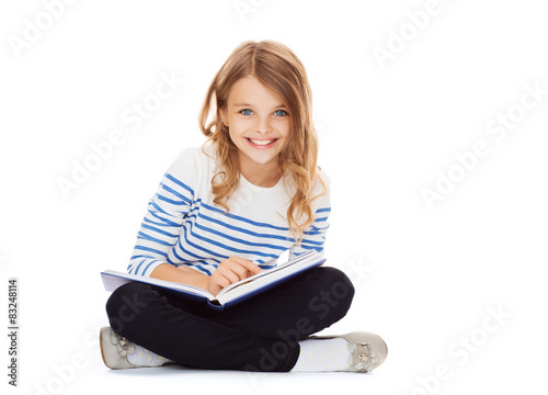 girl reading book Poster