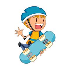 Skater boy, vector illustration