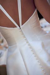 Particolare vestito da sposa, schiena